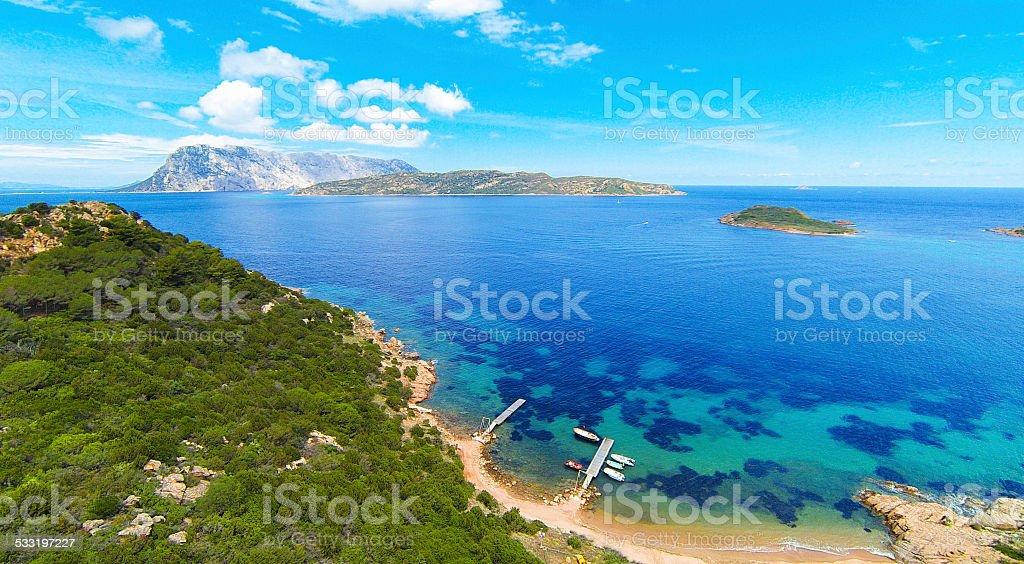 sardinia's eastern coast stock photo