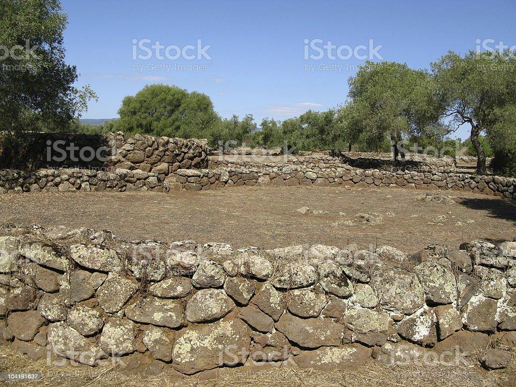 Sardinien - Nuraghensiedlung royalty-free stock photo