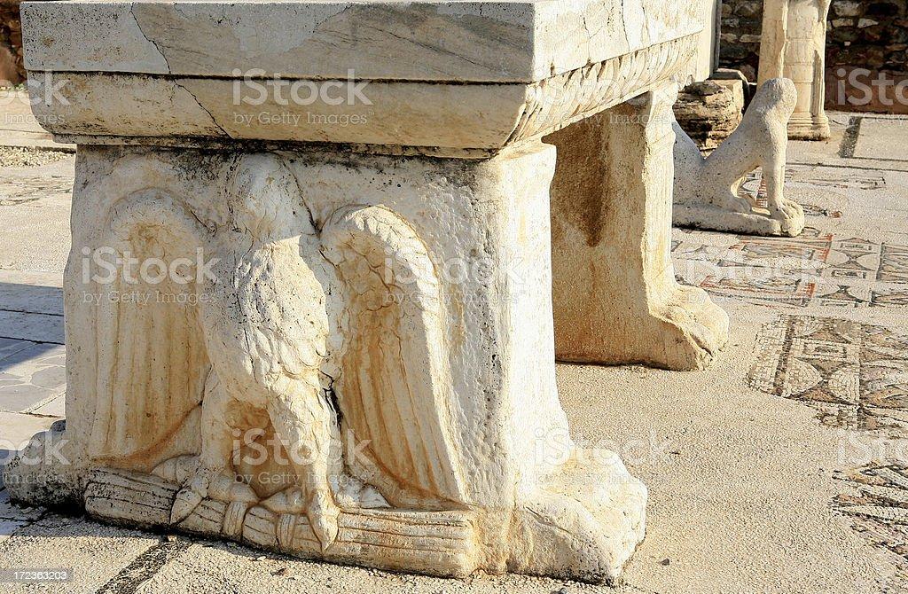 Sardis _ Turkey ' Roman Eagle on the Synagogue Alter ' stock photo