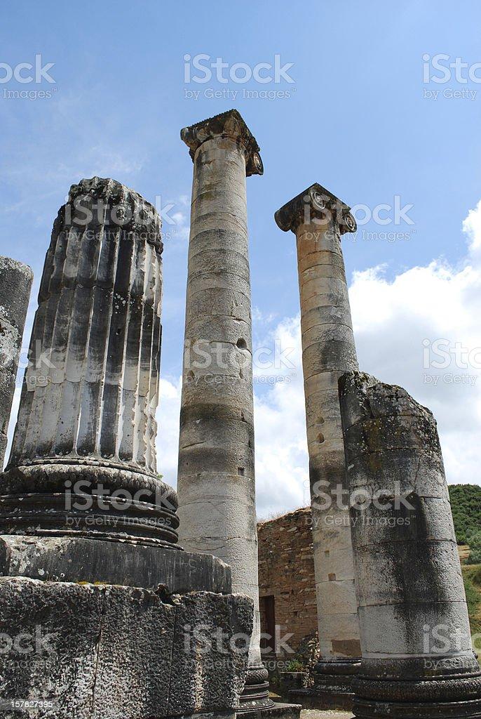 Sardis ancient city ruins royalty-free stock photo
