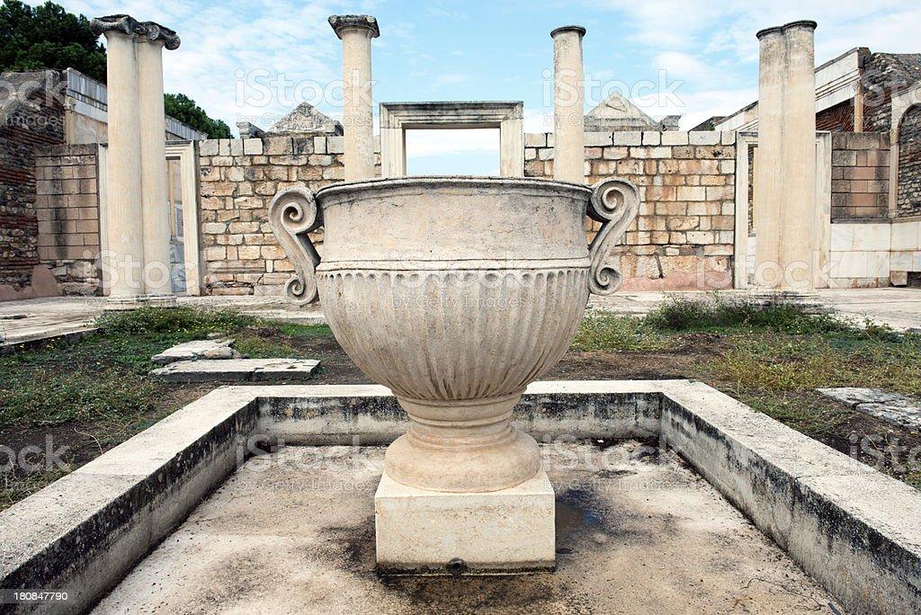 Sardis Synagogue Courtyard royalty-free stock photo