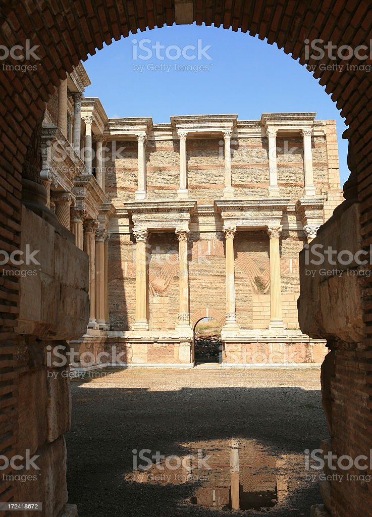 Sardis - Turkey 'Entrance to The Huge Gymnasium ' stock photo