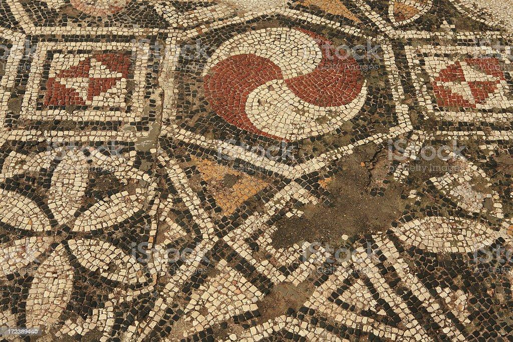 Sardis - Turkey ' The amazing Synagogue Mosaic Floors ' stock photo
