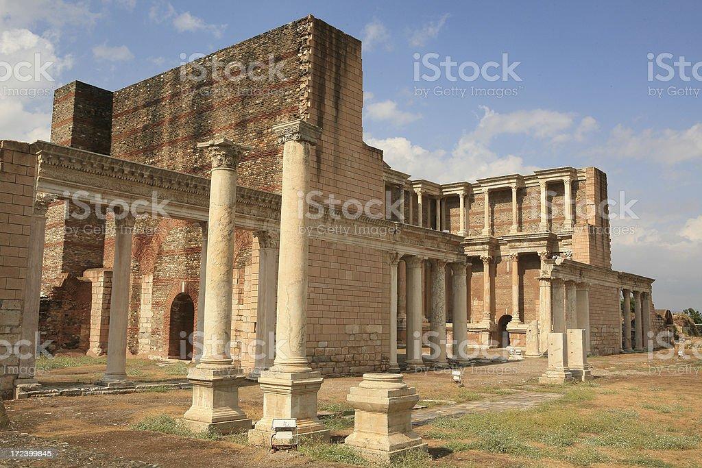 Sardis - Turkey ' The huge Gymnasium ' stock photo