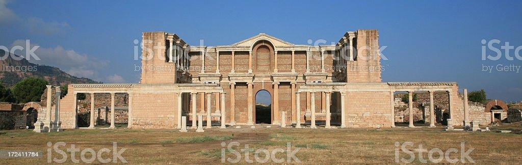 Sardis - Turkey ' The huge Gymnasium' stock photo