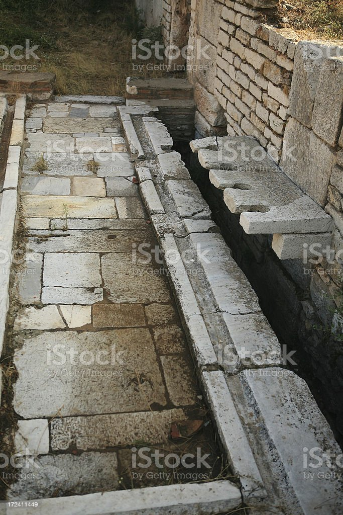 Sardis - Turkey ' The public toilets' stock photo