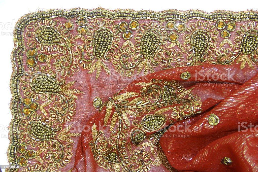 Sari Sari rouge Sari Industrie photo libre de droits