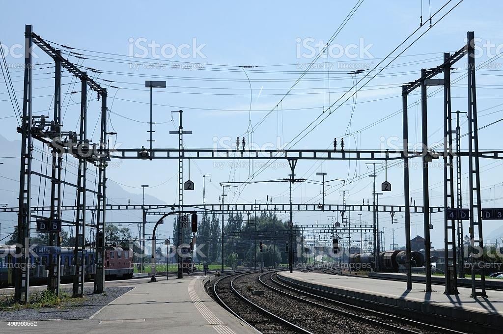 Sargans Train station, Switzerland stock photo
