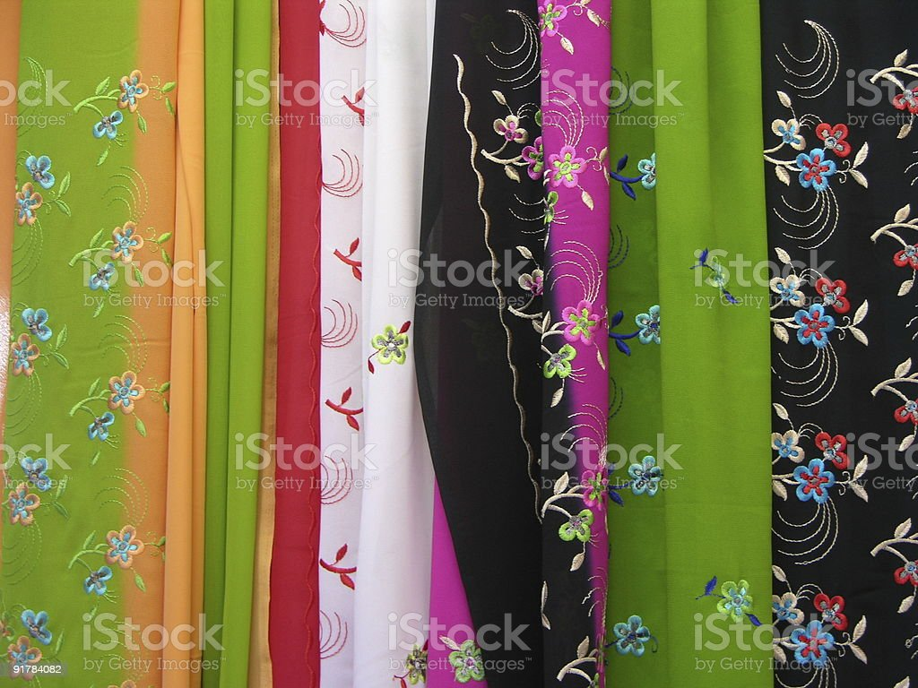 Sari fabric stock photo