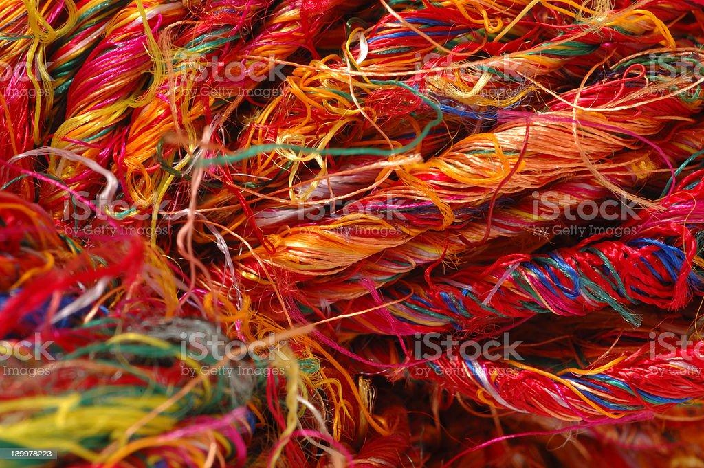 Sari Silk Yarn royalty-free stock photo