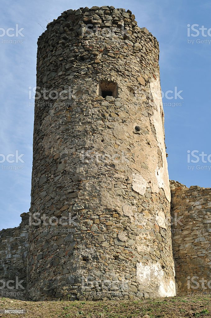 Saris castle tower stock photo