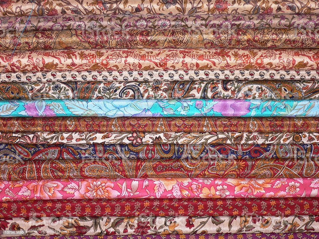 Saris royalty-free stock photo