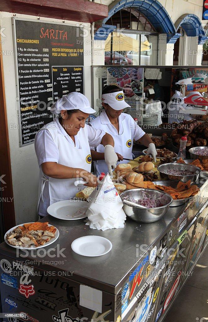 Sarita Restaurant Chicharr?neria royalty-free stock photo