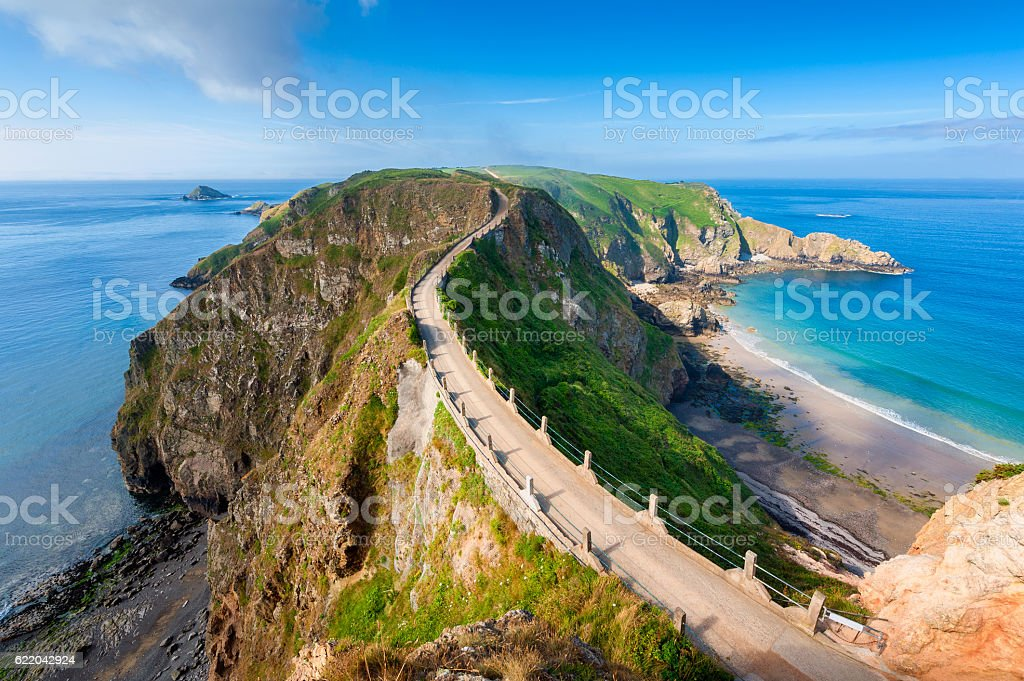 Sark Isthmus stock photo