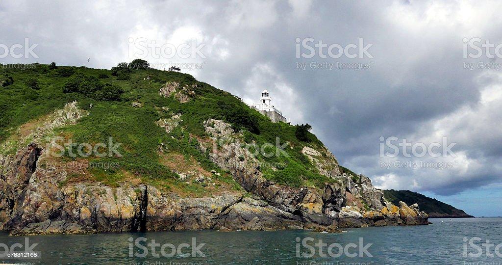 Sark Lighthouse stock photo