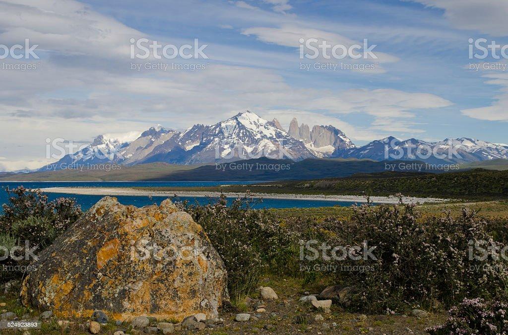 Sarmiento Lake stock photo