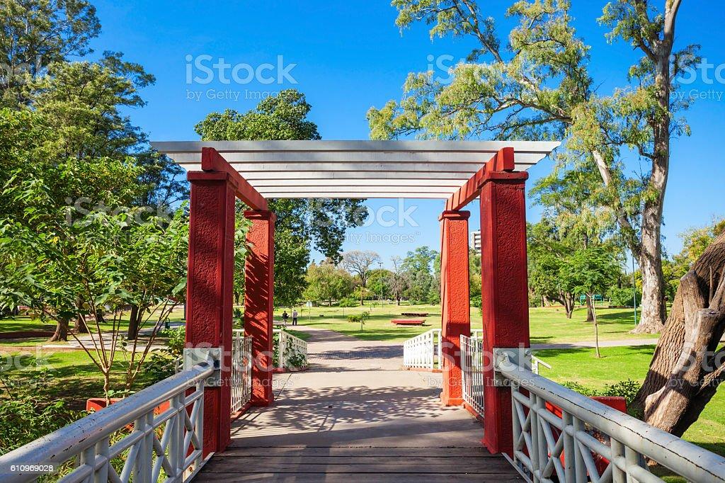 Sarmiento Park in Cordoba stock photo