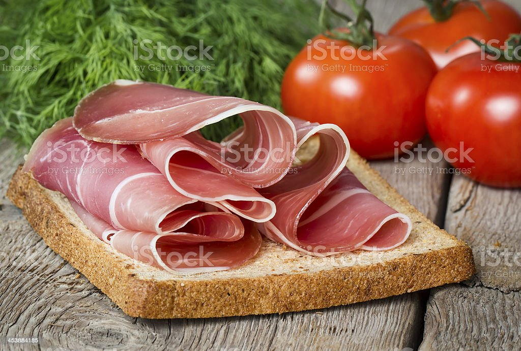 Sarnwich with ham royalty-free stock photo