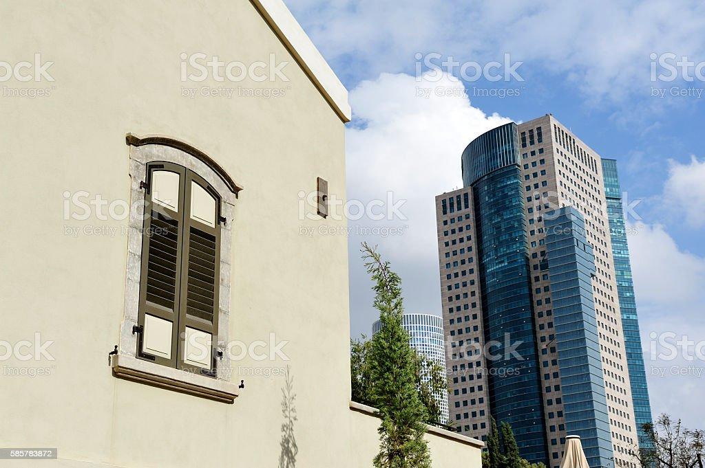 Sarona city architecture inTel-Aviv stock photo