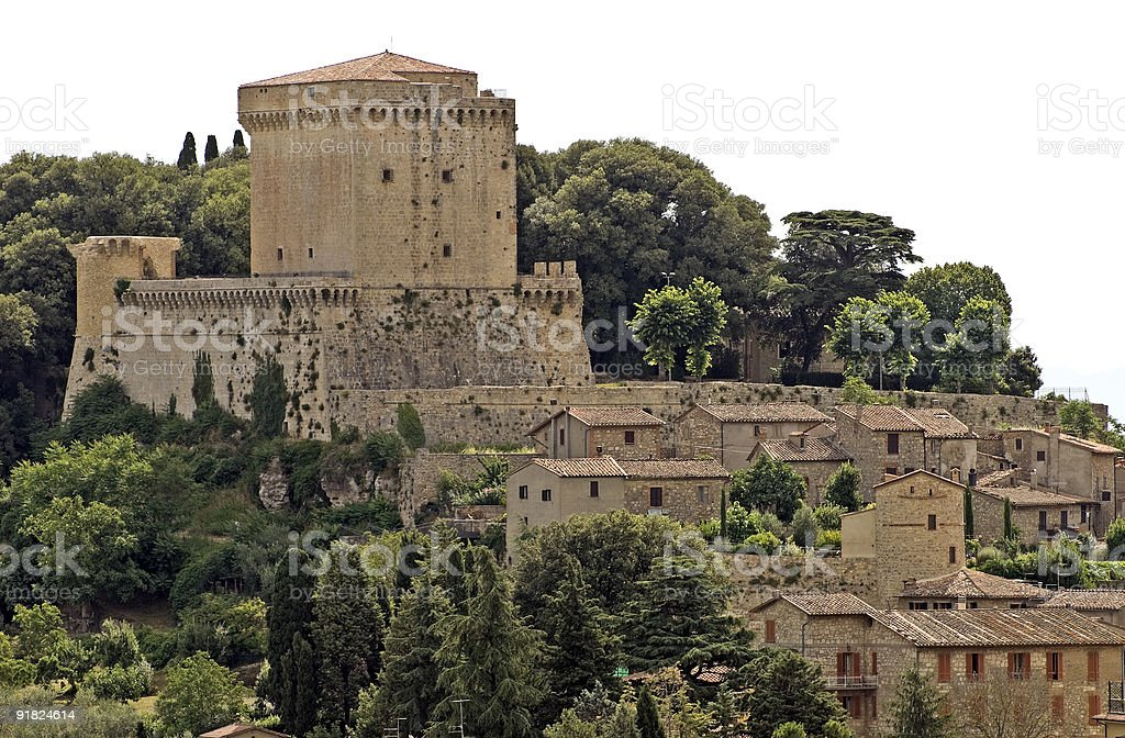 Sarteano (Tuscany, Italy) - The castle royalty-free stock photo