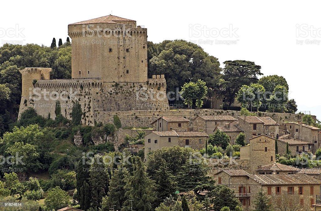 Sarteano (Tuscany, Italy) - The castle stock photo