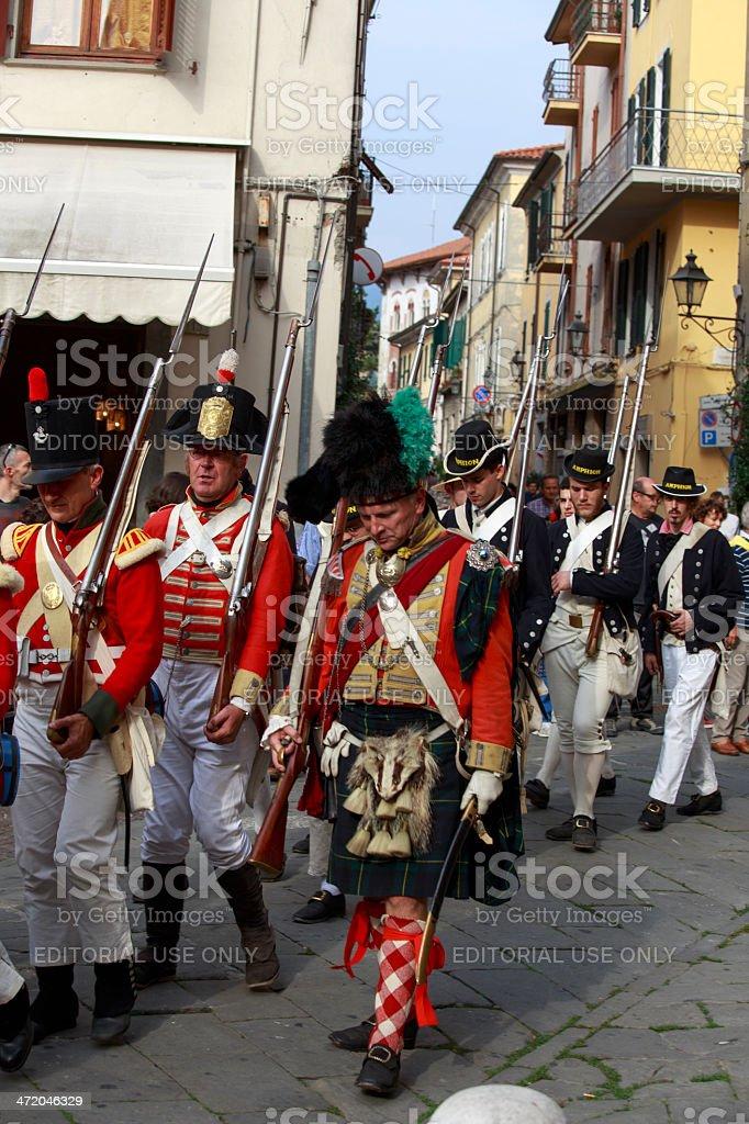 Sarzana Napoleon festival royalty-free stock photo