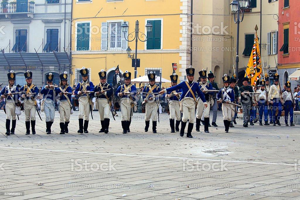 Sarzana Napoleon festival stock photo