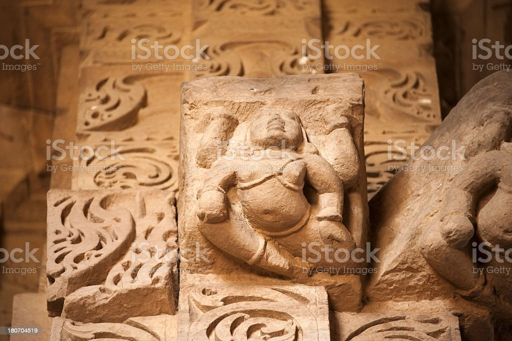 Sas Bahu Temple in Gwalior Fort. royalty-free stock photo