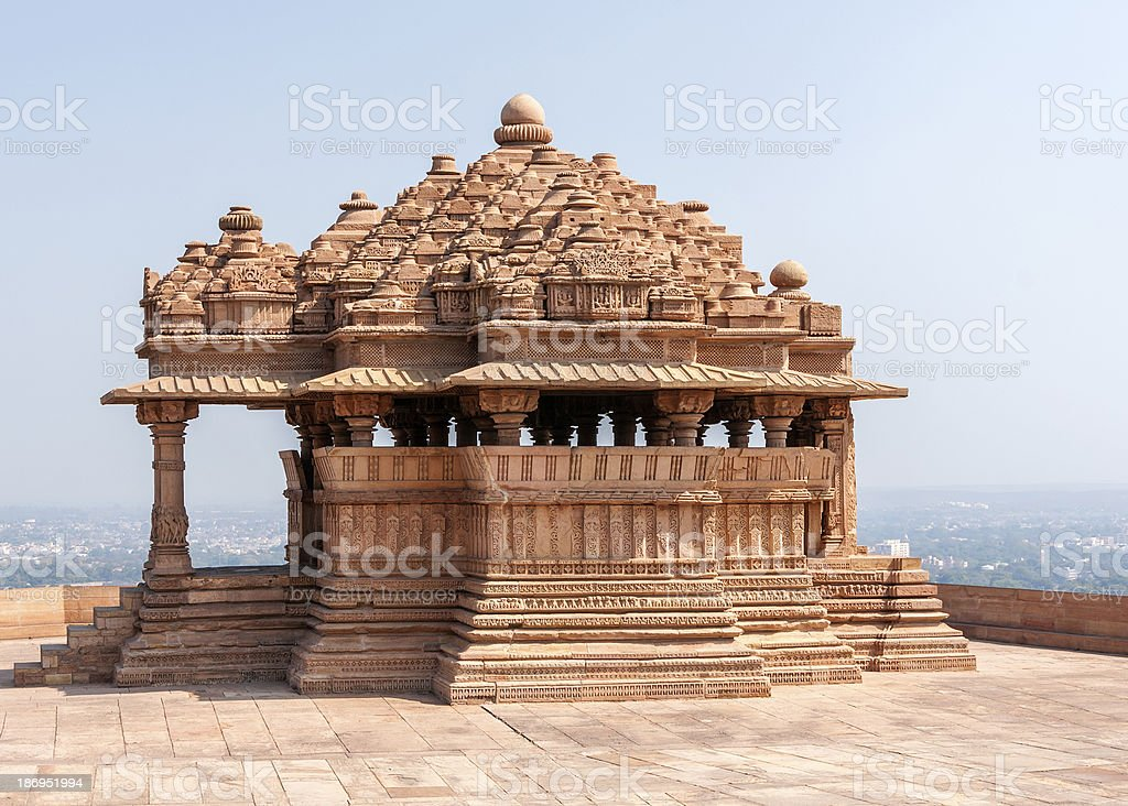 Sas-Bahu, the smaller of two medieval Hindu temples in Gwalior. royalty-free stock photo