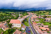 Saschiz saxon village and fortified Church in middle Transylvani