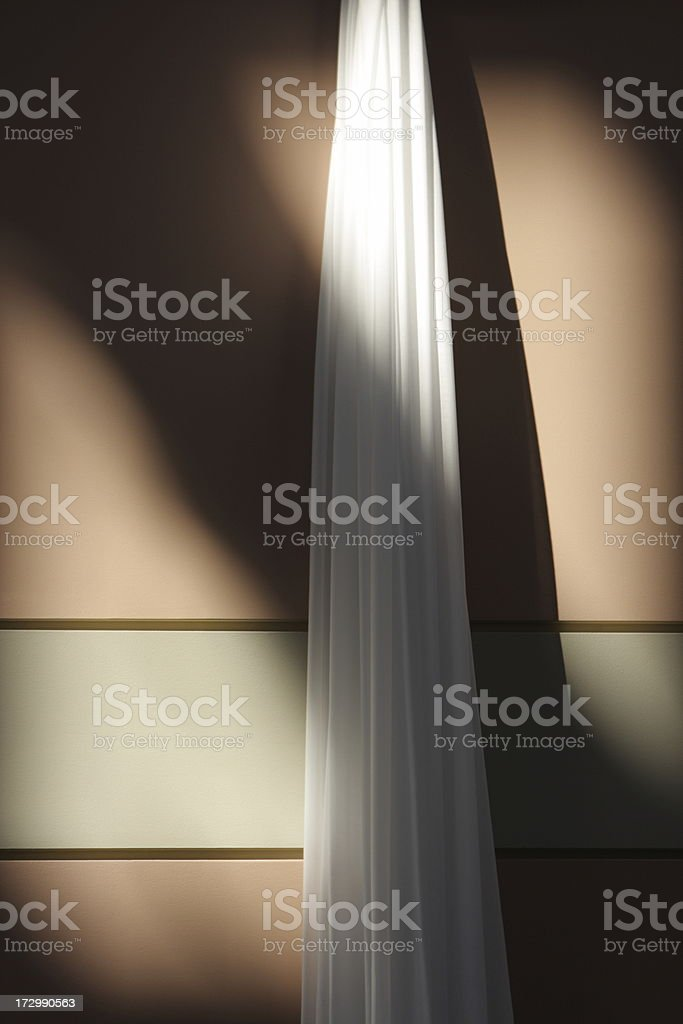 Sash Curtain Silk Wall Hanging Moonlight Shadows stock photo