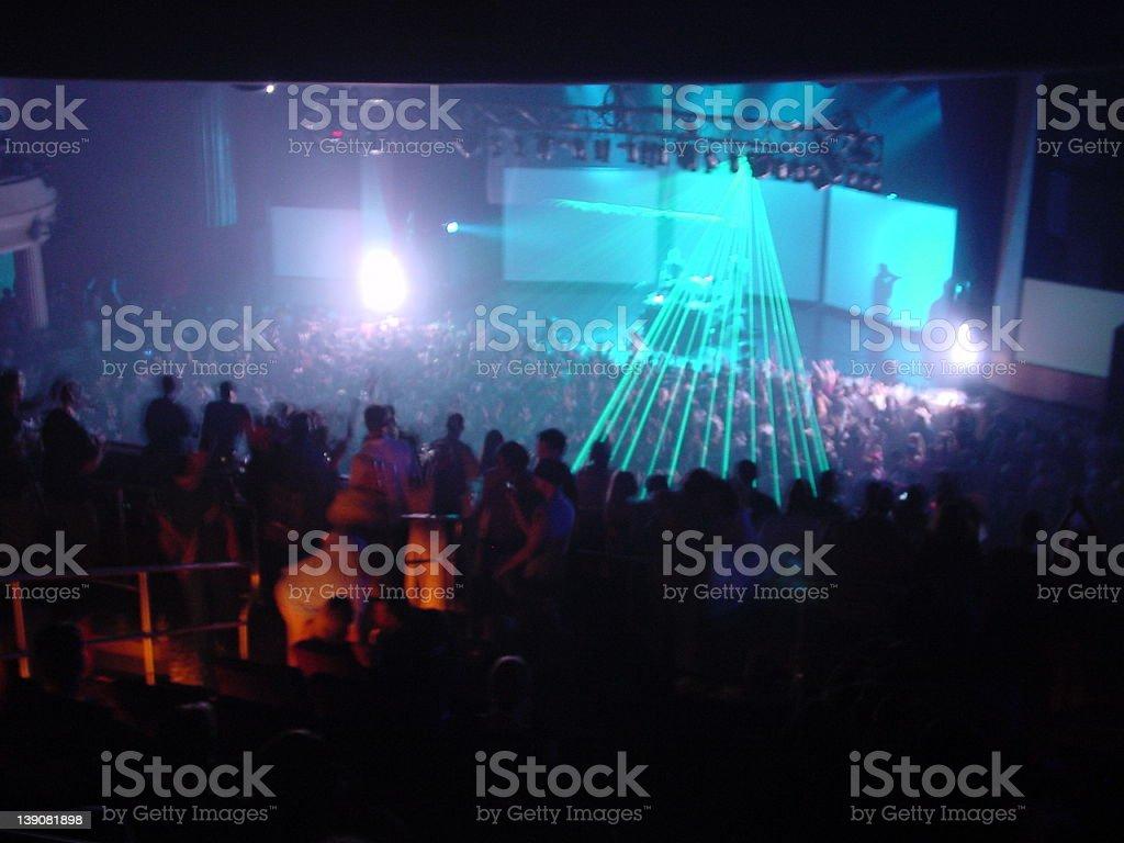 Sasha and Digweed party@Hard Rock Live stock photo