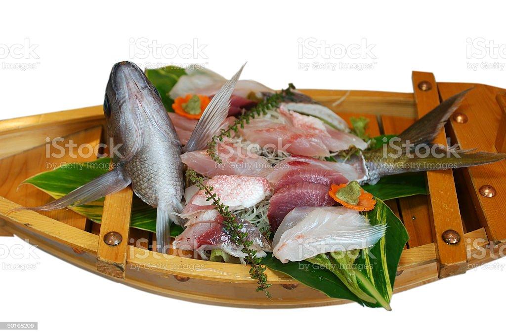 Sashimi boat royalty-free stock photo