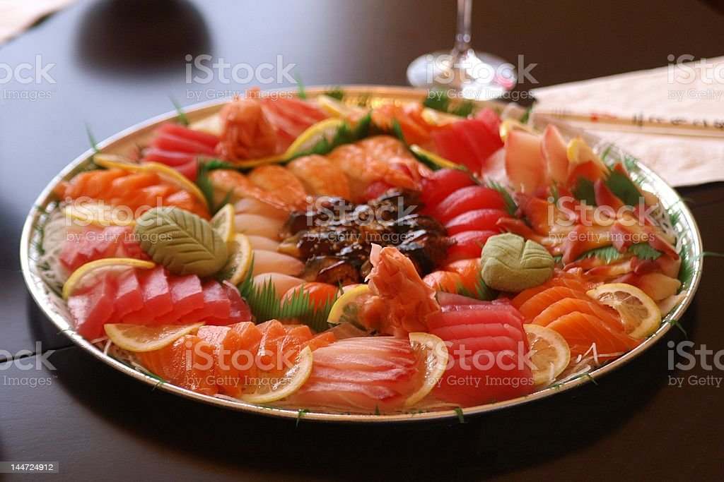 Sashimi Dish royalty-free stock photo