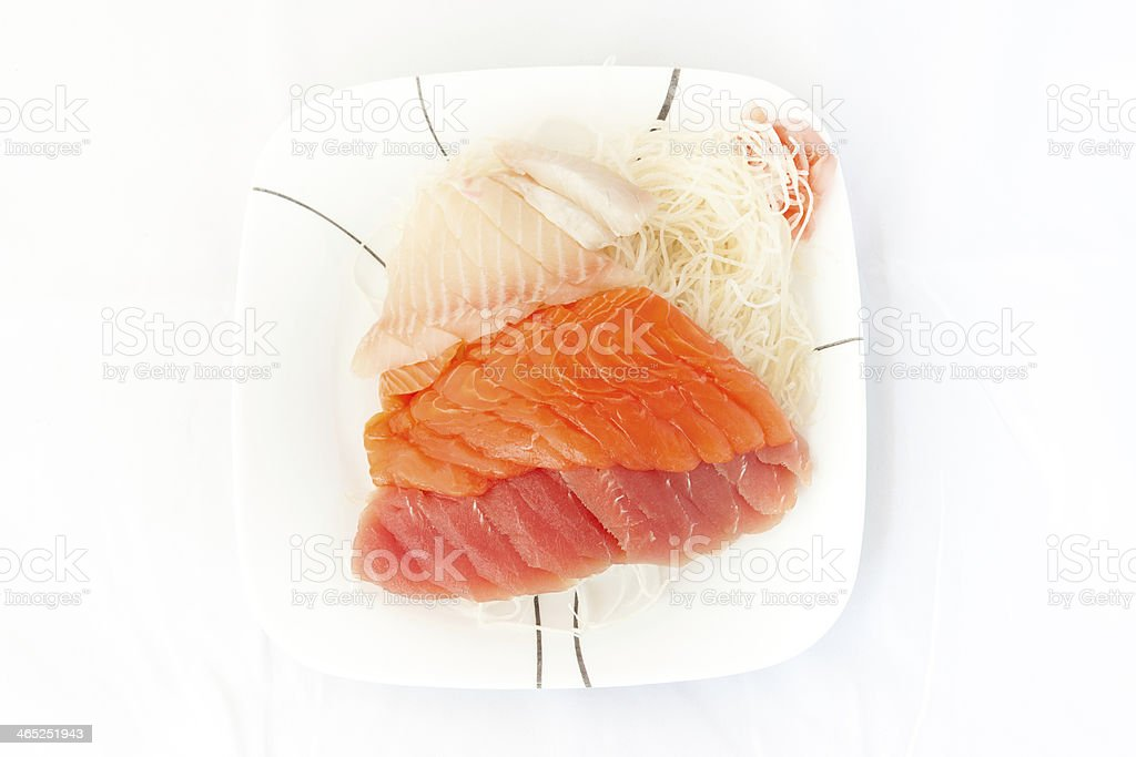 sashimi in plate stock photo