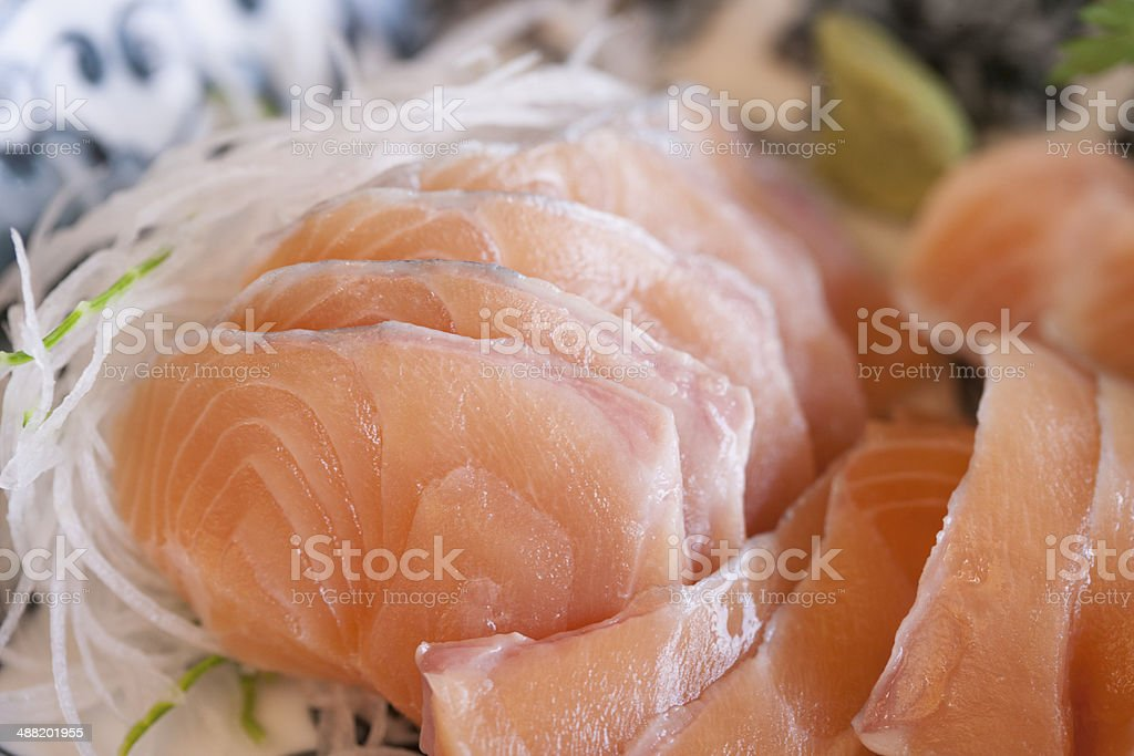 Sashimi of rainbow trout royalty-free stock photo