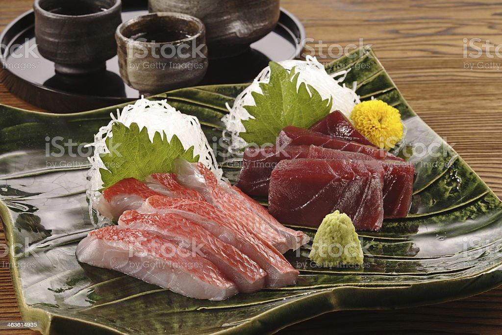 Sashimi of tuna and alfonsino royalty-free stock photo