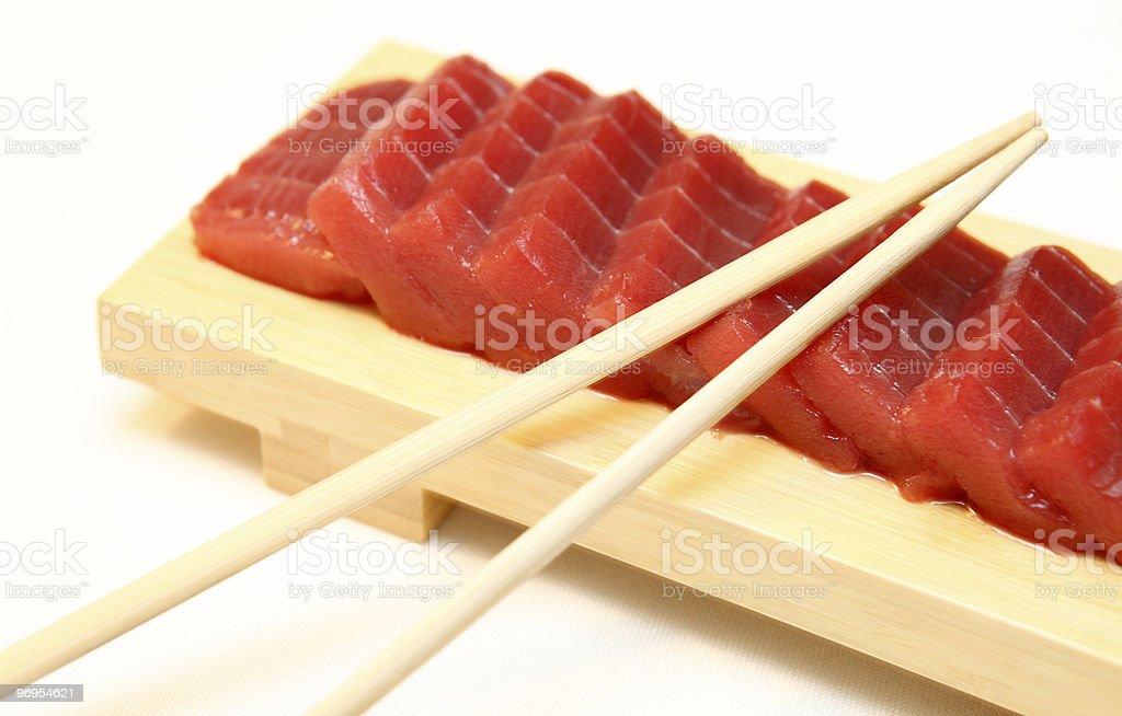 Sashimi de atún foto de stock libre de derechos