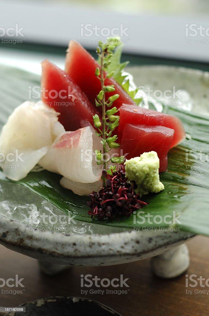 Sashimi on Ice stock photo