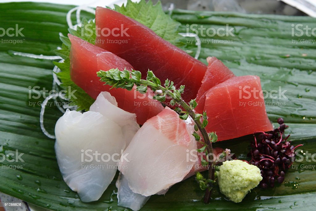 Sashimi on ice. royalty-free stock photo