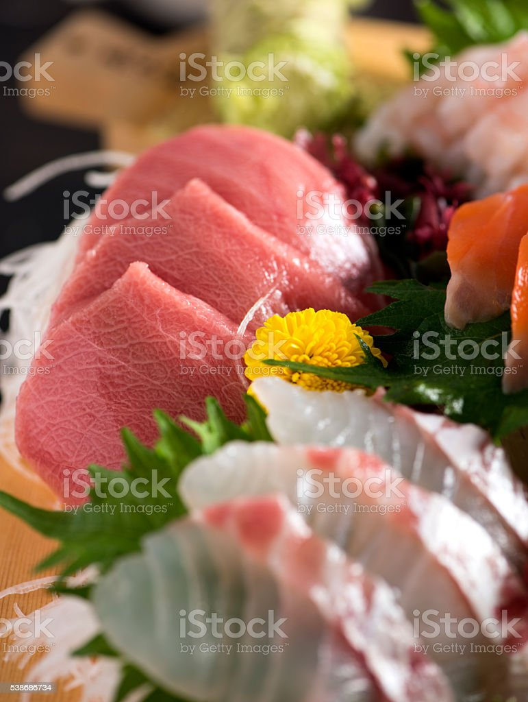 Sashimi Plate stock photo