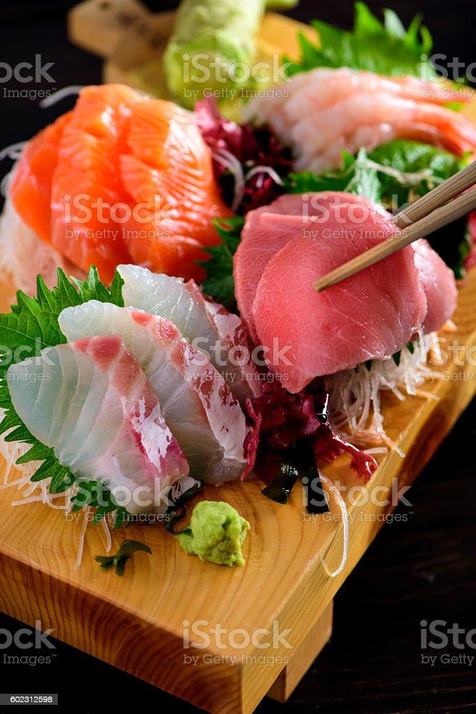 Sashimi Plate stock photo
