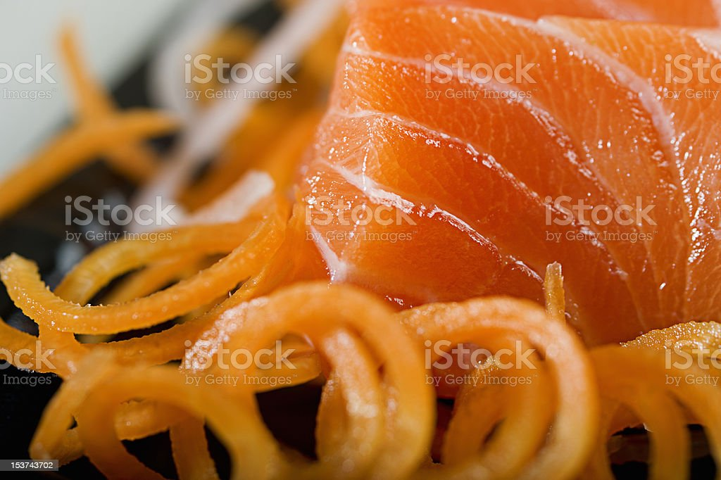 Sashimi Sake Teiisyoku royalty-free stock photo