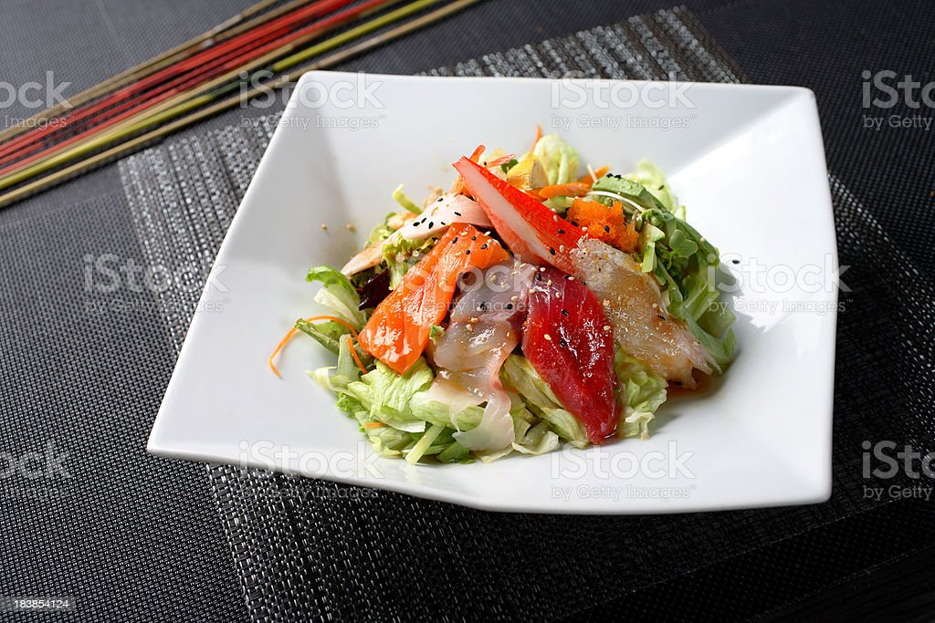 Sashimi Salad royalty-free stock photo