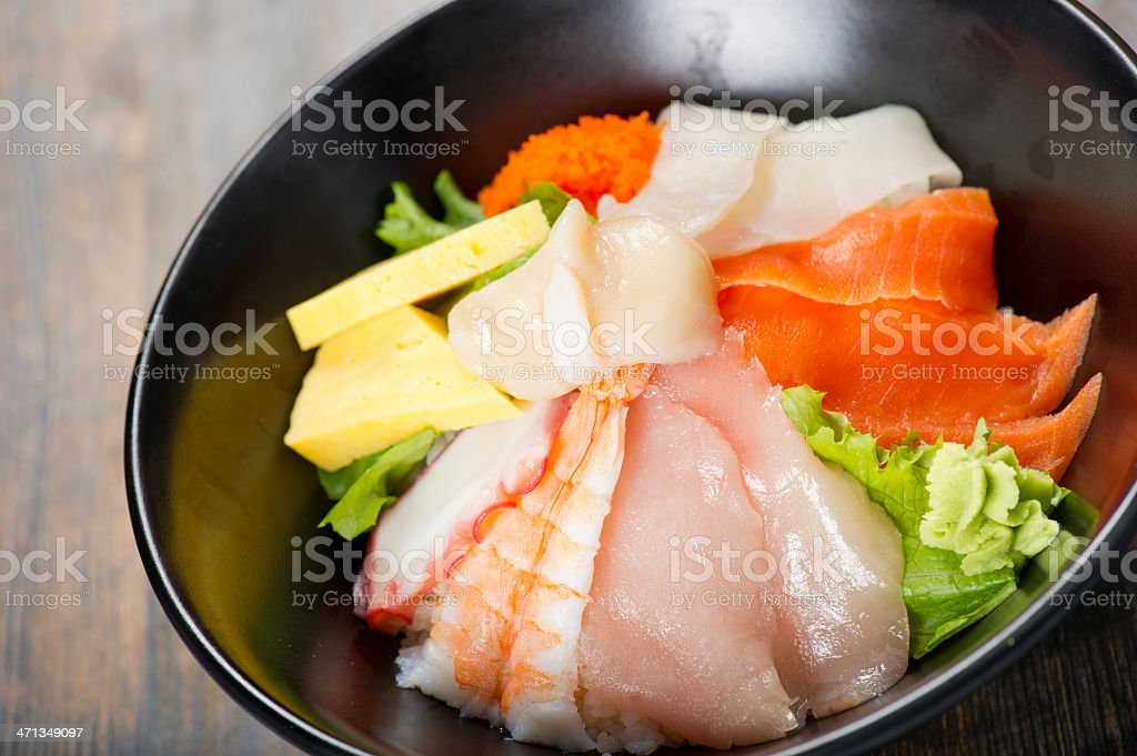 Sashimi Salad royalty-free stock photo