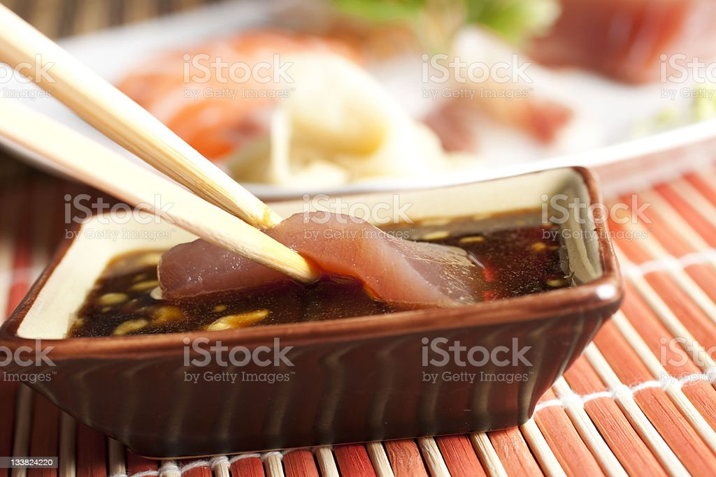 Sashimi Set - Tuna royalty-free stock photo
