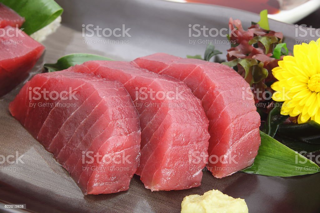 Sashimi tuna, Japanese food stock photo