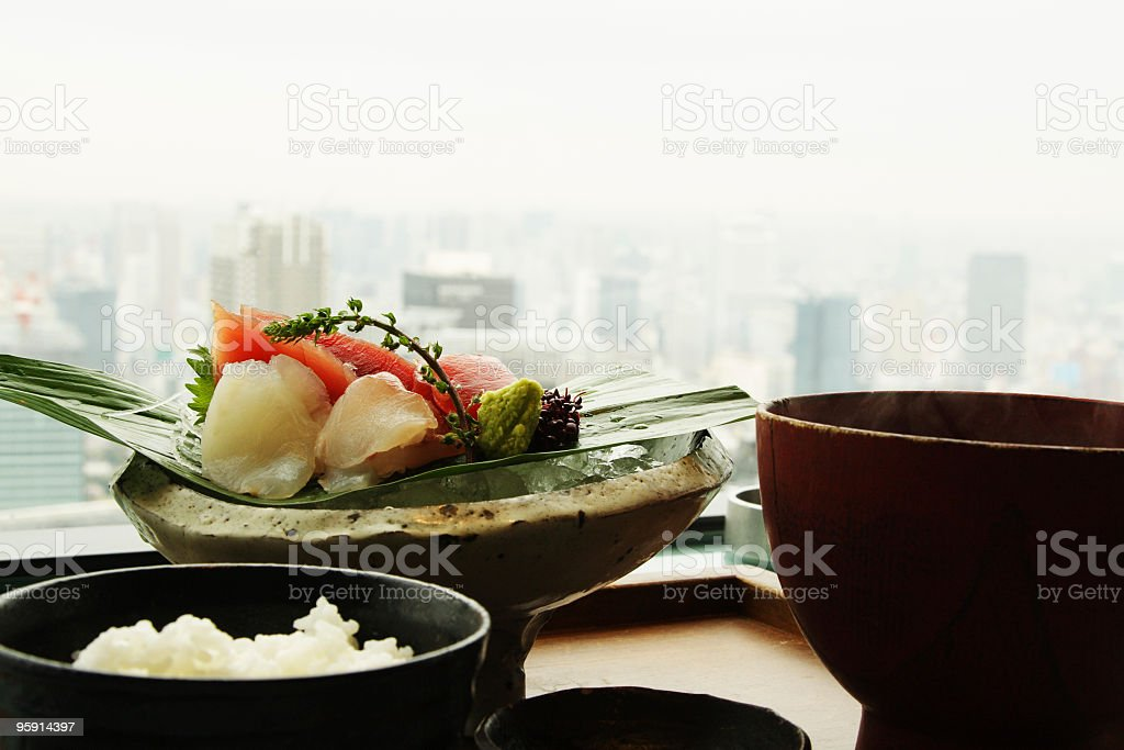 Sashimi with view. royalty-free stock photo