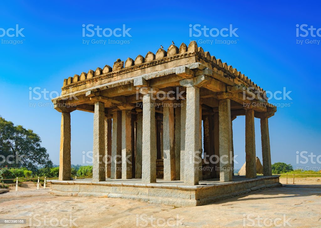Sasivekalu Ganesha in Hampi, India stock photo