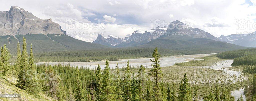 Saskatchewan Crossing royalty-free stock photo
